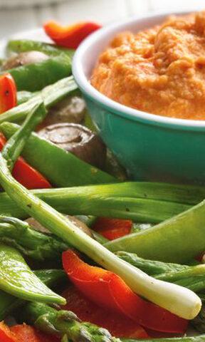 Photo of Roasted Veggies and Hummus